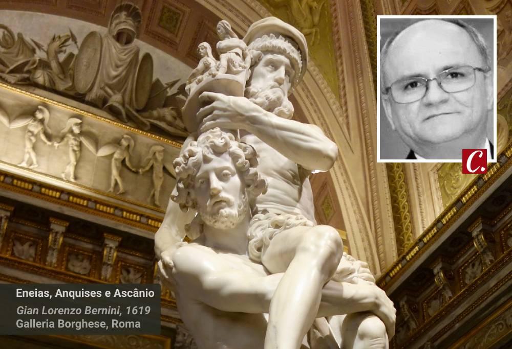 literatura paraibana ensaio eneida eneias anquises ascanio bernini galleria borghese mitologia