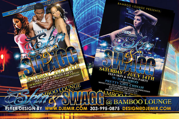 Skin and Swag Flyer Design Bamboo Lounge  Florida