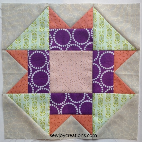 Show up and shine block quiltblockmania Sew Joy Creations