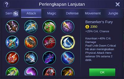 Berserker's Fury Mobile Legends