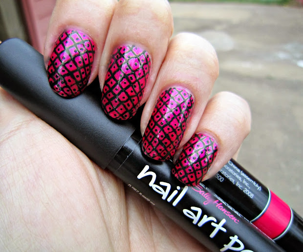 concrete and nail polish