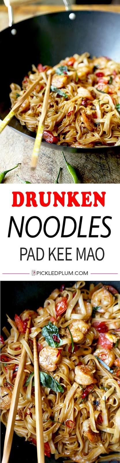 DRUNKEN NOODLES – PAD KEE MAO
