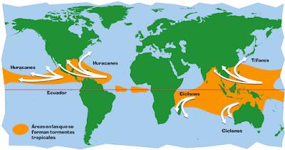 Huracanes, tifones y ciclones