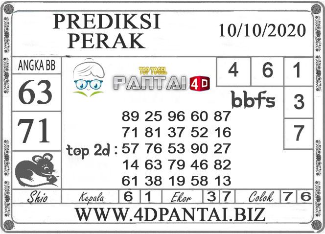 PREDIKSI TOGEL PERAK PANTAI4D 10 OKTOBER 2020