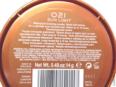 rimmel london natural bronzer review swatch 021 sun light. Black Bedroom Furniture Sets. Home Design Ideas