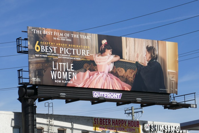 Little Women Oscar nominee billboard