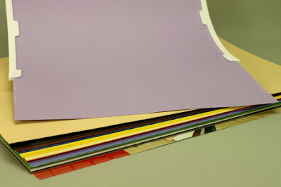Farbige Kartons können leicht gewechselt werden