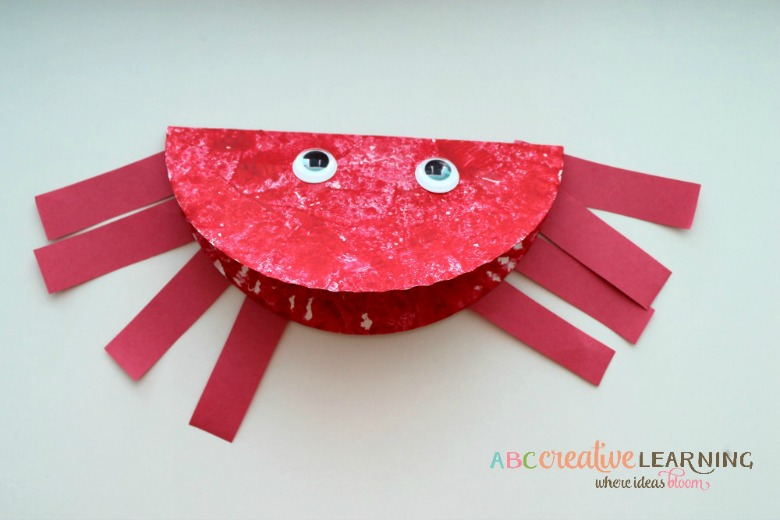 Paper plate animals crab craft