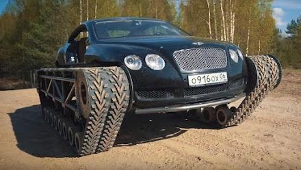 Ein russischer Mechaniker baut einen Bentley Continental GT zum knallharten'Ultratank' um | Vom Luxusschlitten zum Panzer