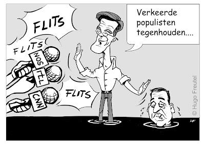 cartoon Rutte houdt verkeerde populist Asscher tegen...