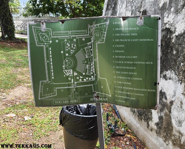 Fort Cornwallis Map