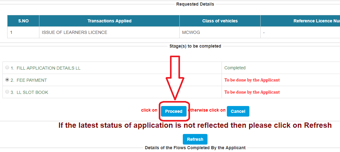 DL Application fees