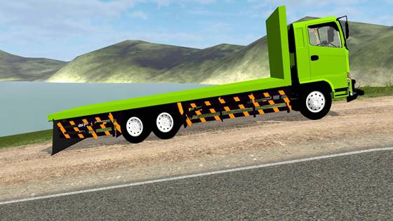 download mod bussid truck hino 500 flatbed standar