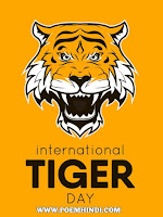 International tiger day 29 July poster images