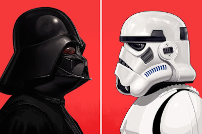 Star Wars Darth Vader & Stormtrooper Portrait Prints by Mike Mitchell x Mondo