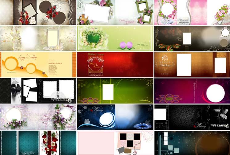 Floral Karizma Photo Album PSD Design