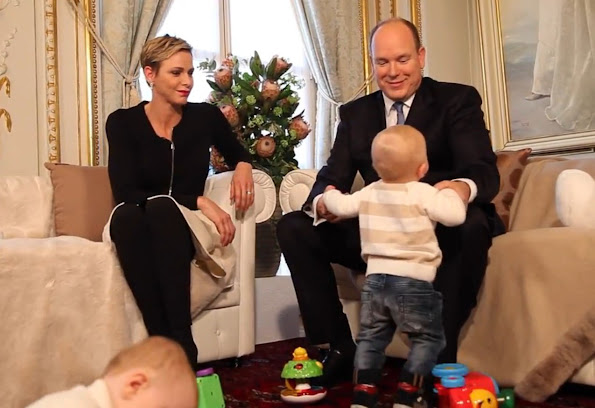 Prince Albert and Princess Charlene of Monaco gave a documentary-like interview on the occasion of first birthday of their twins Prince Jacques and Princess Gabriella and 10th anniversary of the reign of Prince Albert of Monaco