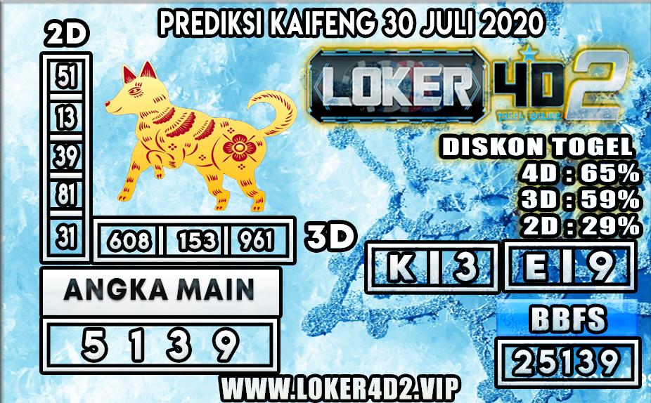 PREDIKSI TOGEL LOKER4D2 KAIFENG 30 JULI 2020