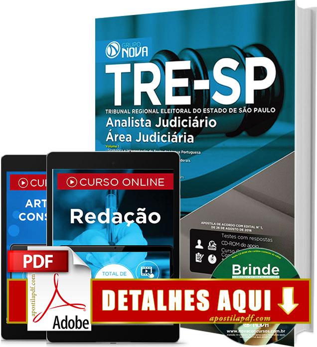 Apostila TRE SP 2016 Analista Judiciário Área Judiciária Impressa