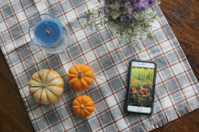 glade candle fall tablescape