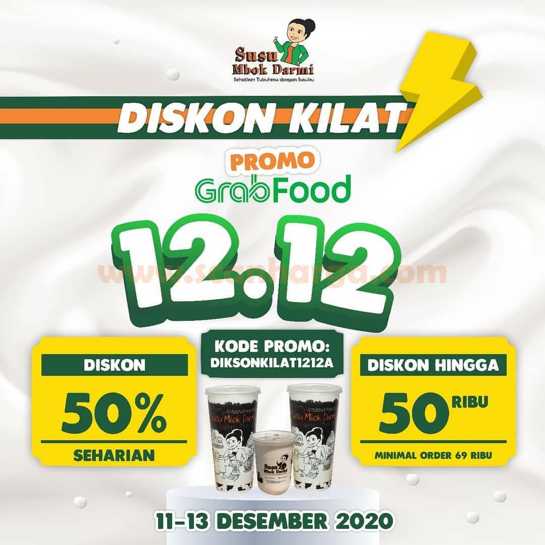 Susu Mbok Darmi Promo Diskon Kilat 12.12 – Diskon 50% via Grabfood