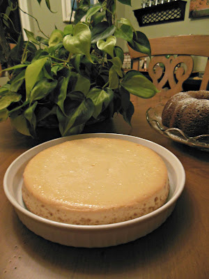 The Perfect Cheesecake, long slow baking makes a silky texture.