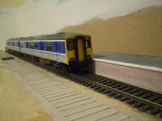 Rhiw Passenger service OO gauge model railway