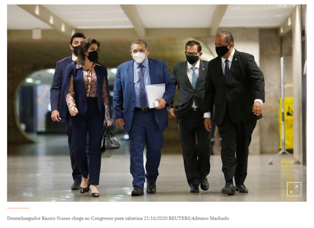 Senado aprova com folga indicação de Kassio Nunes ao STF