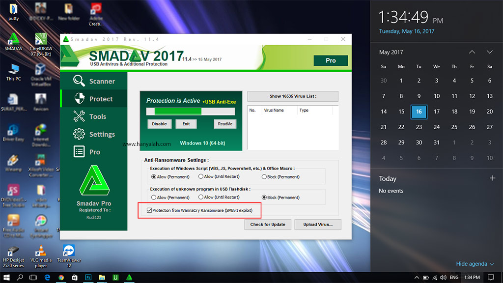 Basmi Hapus Virus Ransomware Wannacry dengan Smadav Antivirus Terbaru 2017