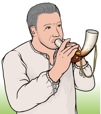 アルボカ Alboka (Albogue)を演奏している人
