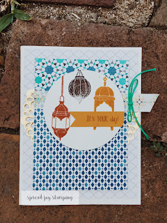 Stampin' Up! Moroccan card featuring lanterns and washi tape by Spread Joy Stamping
