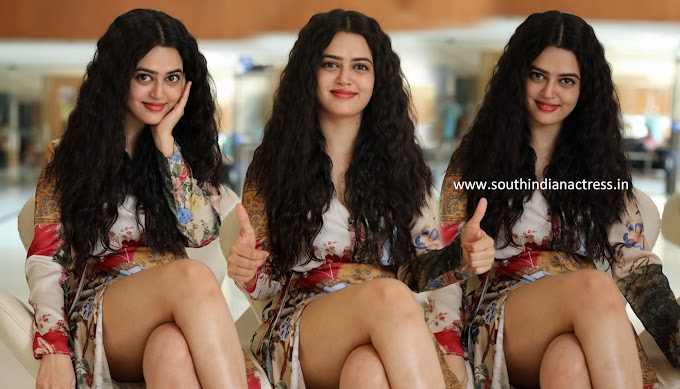 Actress Lovely Singh Hot Pics At Gaali Sampath Movie Interview