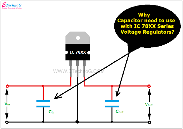 capacitor ic78xx voltage regulator
