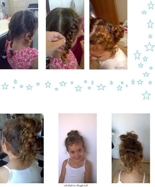 coiffure petite fille pour école