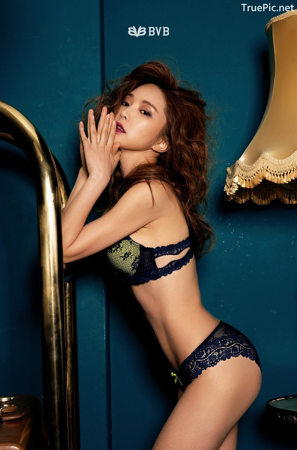 Image Korean Fashion Model - Park Soo Yeon - BVB Black Lace Lingerie - TruePic.net - Picture-5