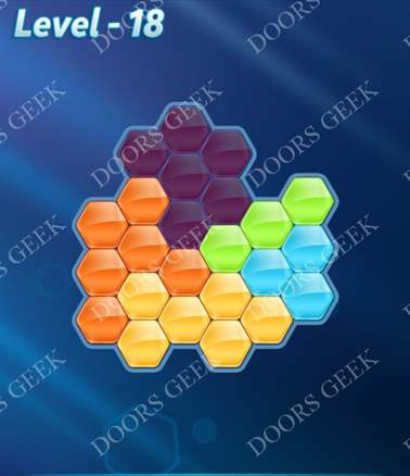 Block! Hexa Puzzle [Intermediate] Level 18 Solution, Cheats, Walkthrough for android, iphone, ipad, ipod