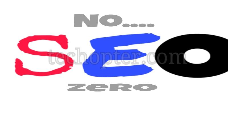 No zero seo for blogger