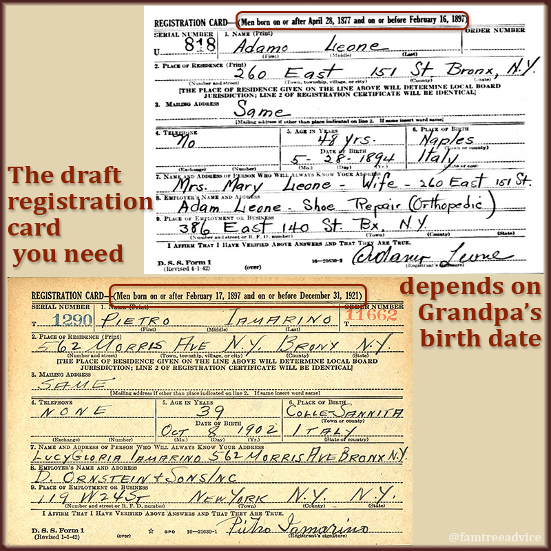 Each registration has a birth date range. Is your ancestor out of range?