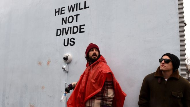 Transformers star Shia LaBeouf charged during anti-Trump protest