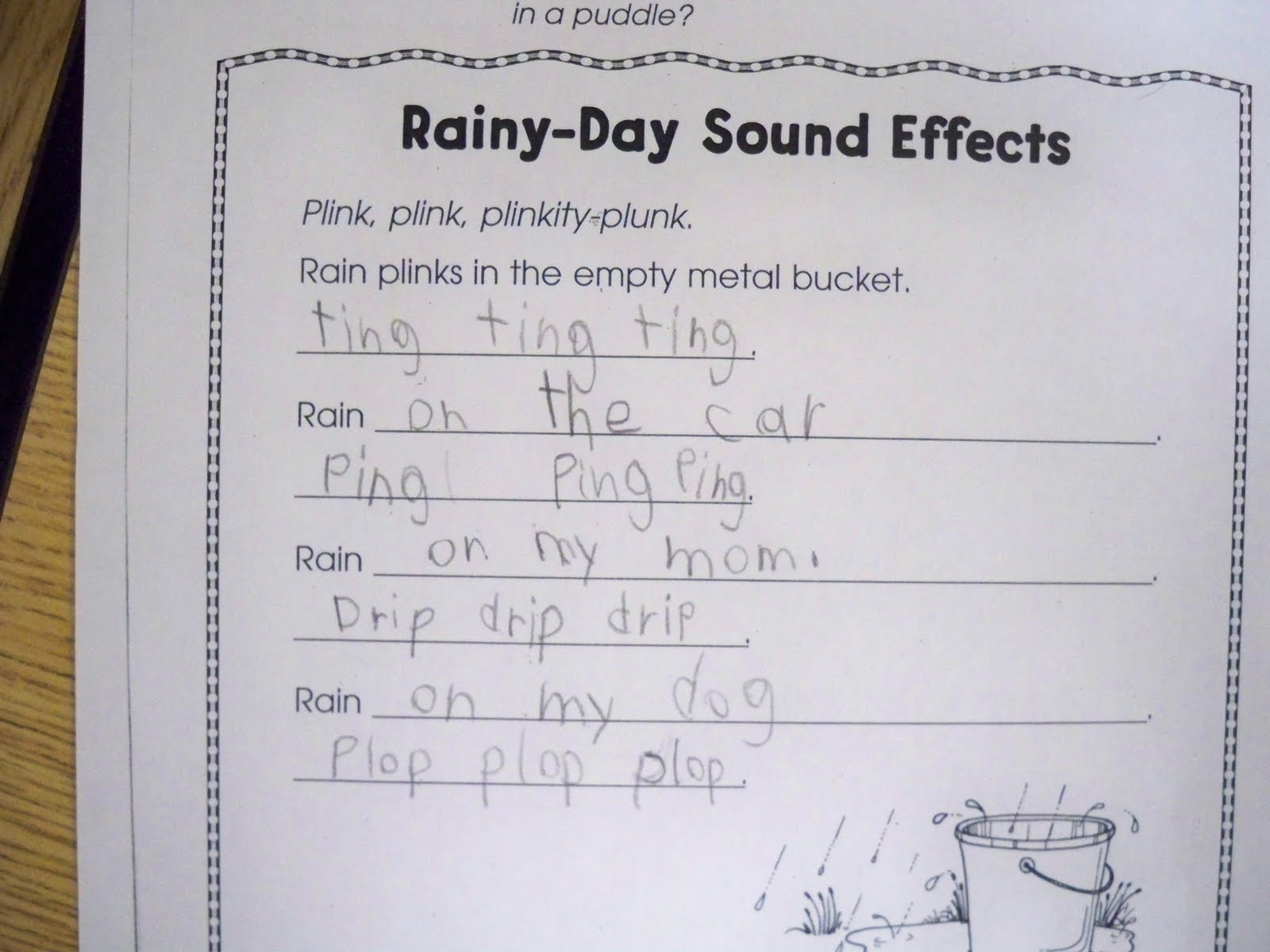 First Grade Best Rain Rain Go Away