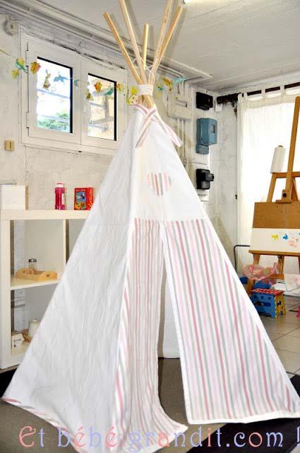 ce qu il faut pour la fabrication d un tipi pour enfants. Black Bedroom Furniture Sets. Home Design Ideas