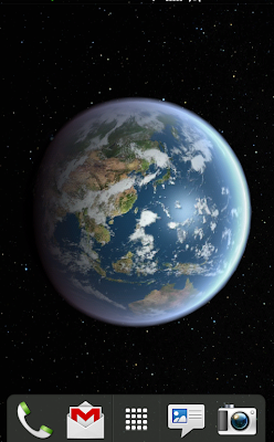 screenshot of Earth HD live wallpaper