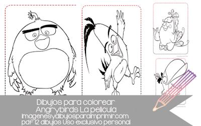 Angry birds la pelicula dibujos para colorear