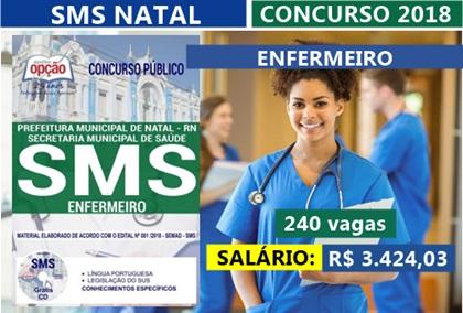 Concurso SMS Natal RN 2018 Enfermeiro