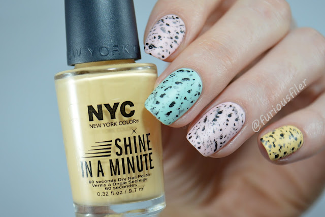 easter egg speckled nails tutorial matte pastel