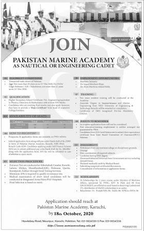Pakistan Marine Academy Jobs, PAK Navy Jobs