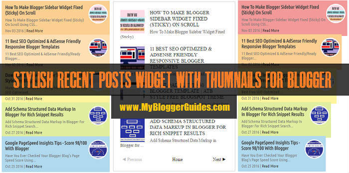 Recent Post Widgets for Blogger, Latest Post Widgets, Stylish Recent Post Widgets, Recent Posts Widget with Thumbnails