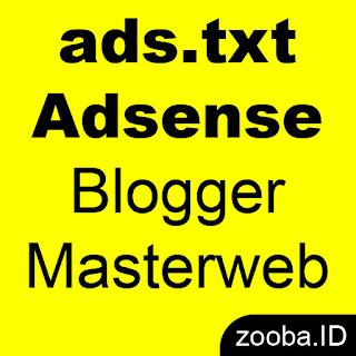 Pasang ads.txt Adsense terbaru