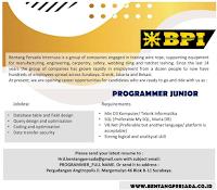 Open Recruitment at Bentang Persada Internusa Surabaya January 2020