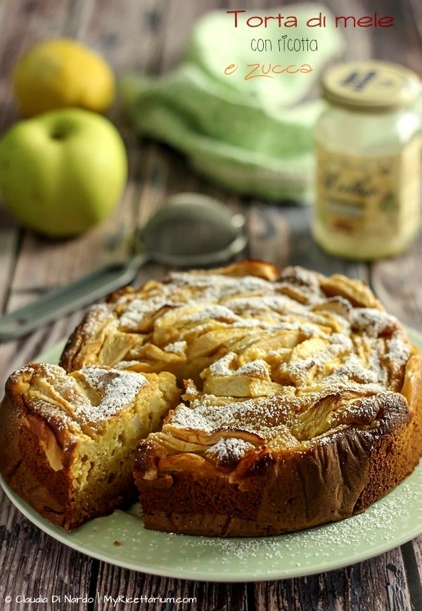Torta di mele con ricotta e zucca